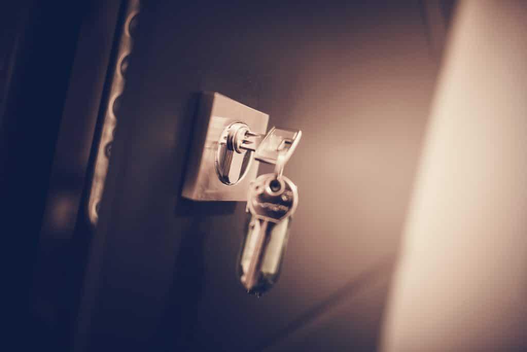 Serrure de porte métallique de bureau et clés